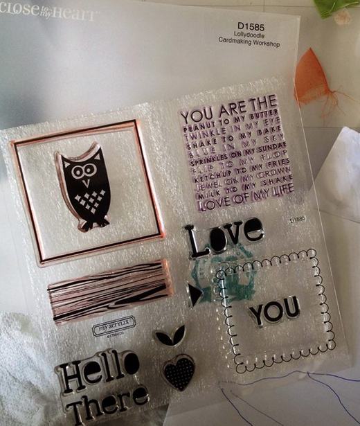 Lollydoodle wog cardmaking stamp set